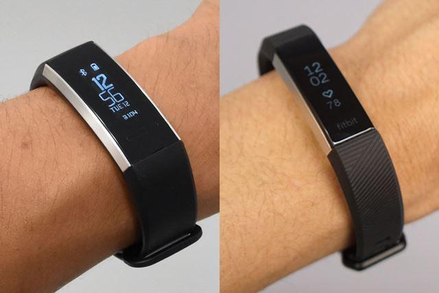 左が「HUAWEI Band 2 Pro」で、右が「Fitbit Alta HR」。幅の違いは実測値で4.2mm
