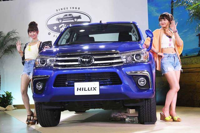 トヨタ 新型「ハイラックス」。東京・お台場のメガウェブで開催された新型SUV発表イベントにて