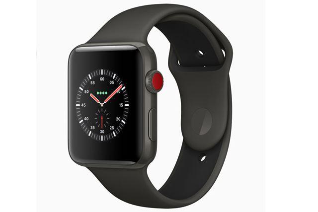 竜頭が赤色に変わったApple Watch Series 3