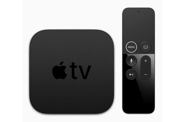 Apple TV 4K。本体サイズと重量は前モデルのApple TVと同じ
