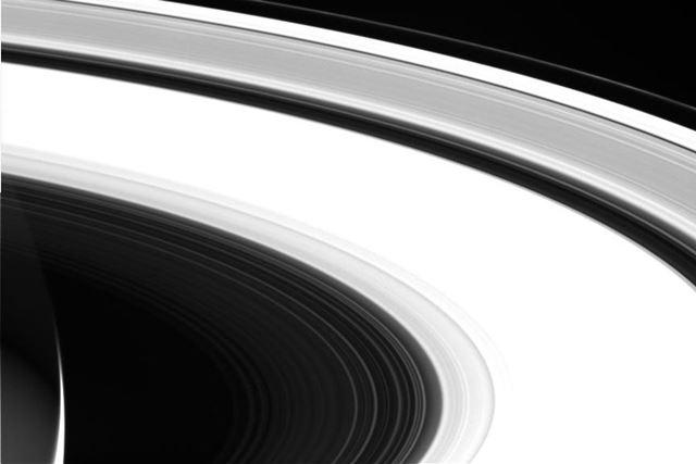 カッシーニにより撮影された土星の環
