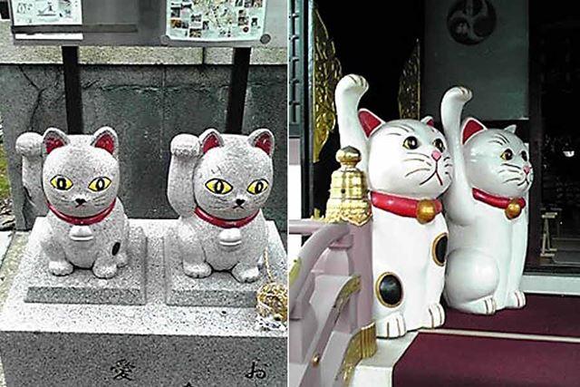 7年前に携帯電話のカメラで撮影した今戸神社の招き猫です