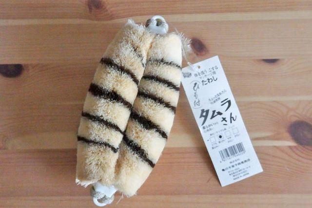 2種類の繊維の組み合わせで縞模様もスタイリッシュな「タムラさん」