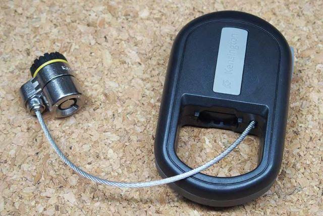 ボタンを押してシリンダーを引っ張ると、ケーブルが伸びます