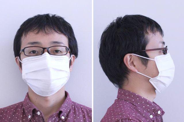 鼻セレブマスク着用