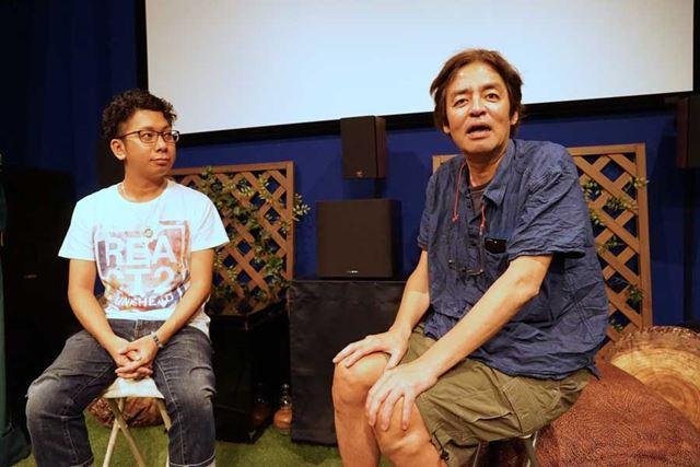 支配人の佐藤浩章氏と音響監督の岩浪美和氏から映画館の現状も語られた