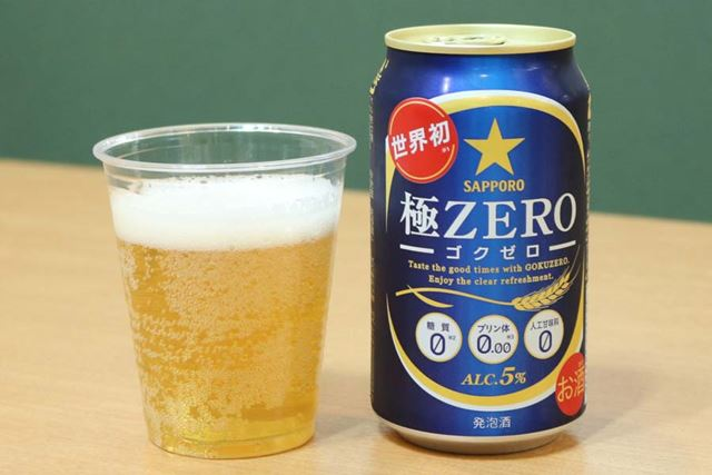 ジャンル:発泡酒/糖質:0g(100ml当たり)/カロリー:30kcal(100ml当たり)/アルコール度数:5%
