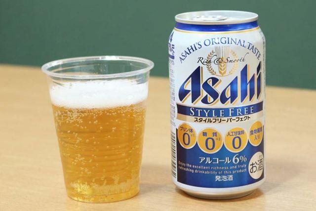 ジャンル:発泡酒/糖質:0g(100ml当たり)/カロリー:36kcal(100ml当たり)/アルコール度数:6%