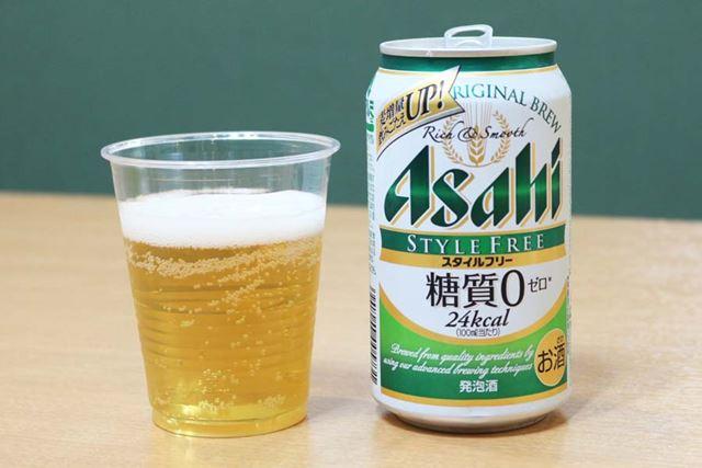 ジャンル:発泡酒/糖質:0g(100ml当たり)/カロリー: 24kcal(100ml当たり)/アルコール度数:4%