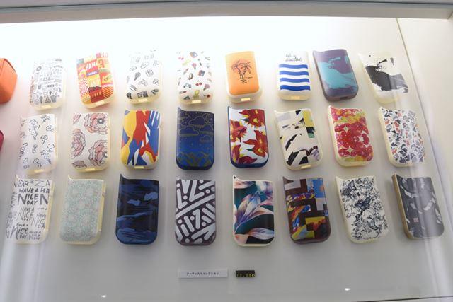 「アイコスフィア渋谷」で限定販売されるケースのアーティストコレクション。各2,980円(税込)