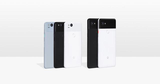 左が「Pixel 2」で、右が「Pixel 2 XL」