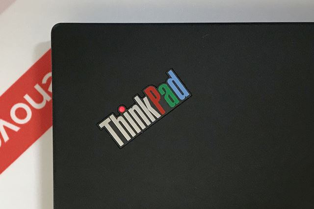 ThinkPadのロゴは昔の3色バージョン
