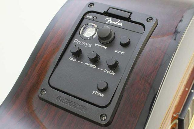 Fenderのエレアコに採用される「Fishman Presysプリアンプ・システム」