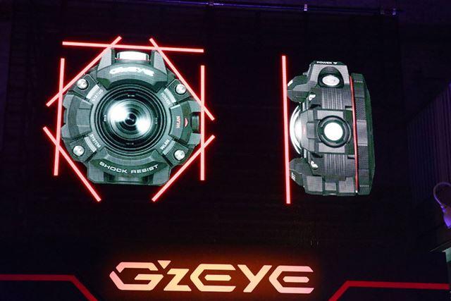 G-SHOCK特有のボタンガードシリンダー構造を採用。落下の衝撃からボタンやレンズをしっかりと保護する