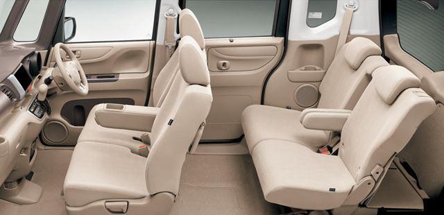 N-BOXの広い室内空間は、2011年の初代モデル発売当時から特徴のひとつとなっていた