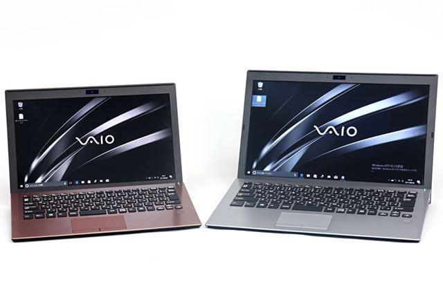11.6型のVAIO S11(左)と13.3型のVAIO S13(右)