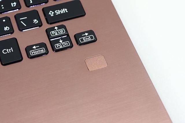 スライドしないタッチ式の指紋センサー。一部モデルに搭載される