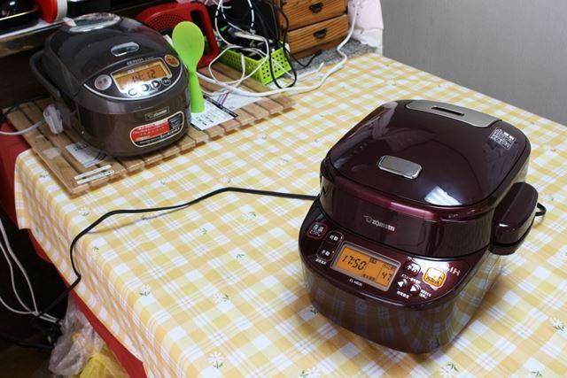 EL-MB30は5.5合炊きの炊飯器とほぼ同サイズなので(ちょっと大きいかも)、置き場で悩む気持ちはわかります