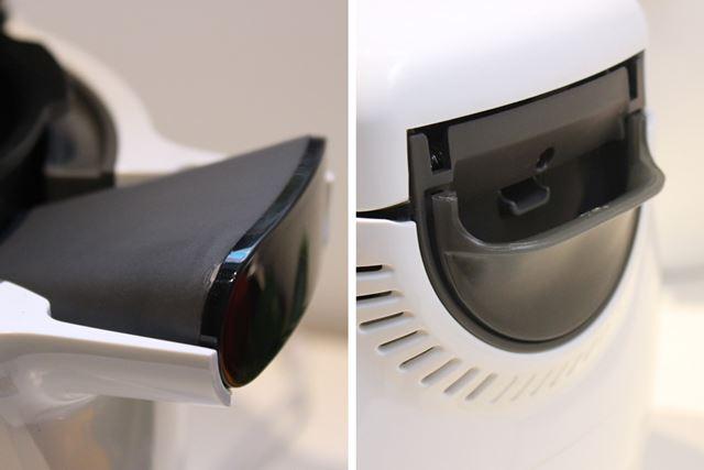 ちなみに、水受けと内鍋の取っ手のカラーもパープルからグレーに変わっていたりします
