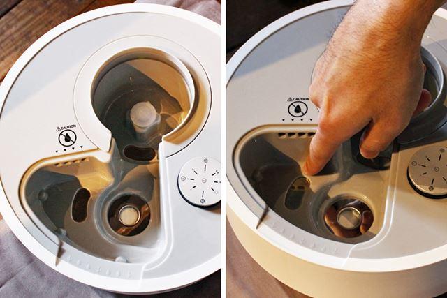 水が溜まる部分は角をなくし、なめらかな形状に。ひとさし指1本で掃除できるレベルを目指したといいます