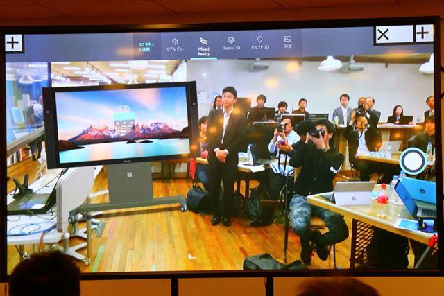 カメラ付きのタブレットなどを使えば、3Dオブジェクトを現実空間に設置して、どのように見えるか確認できる
