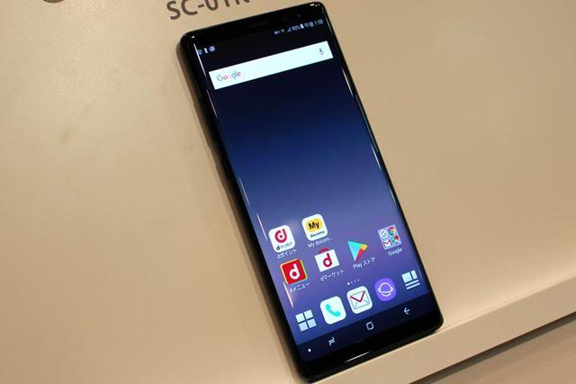 「Galaxy S8+」よりも0.1インチ大きな約6.3インチの画面を備える