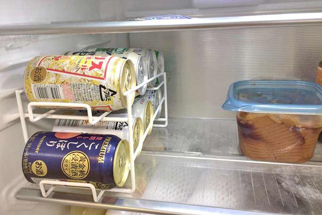 また、冷蔵庫の中ではこんなふうに収納できるので、冷蔵庫の中をスッキリさせられますね♪