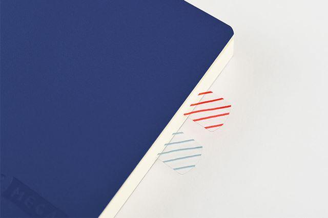 貼るタイプの専用付箋が付属。目的のページがすぐに開けます