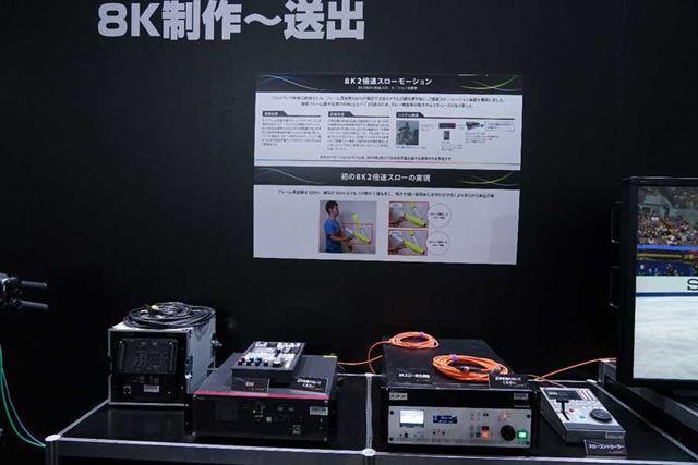8Kの2倍スローモーションに対応した機器をデモンストレーション