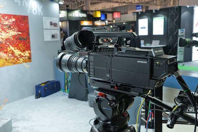日立国際電気の放送用の8K 単板カメラ「SK-UHD8060B」