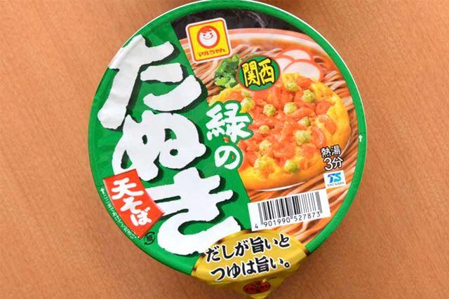 緑のたぬき 天そば(西日本)