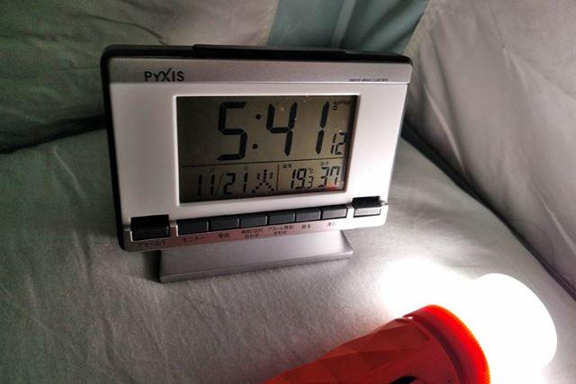 テント内気温19.3度