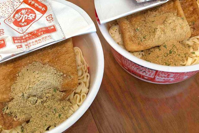 となると、スープの中身も当然異なります。やはり西日本向けのほうが薄く仕上がりそうです