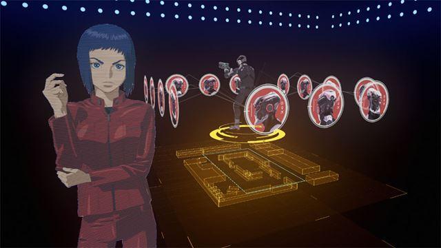 電脳空間で草薙素子からミッションの説明を受ける