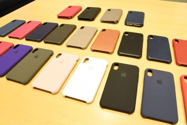 アップル純正のiPhone X用ケースは、3タイプ全25種類をそろえる