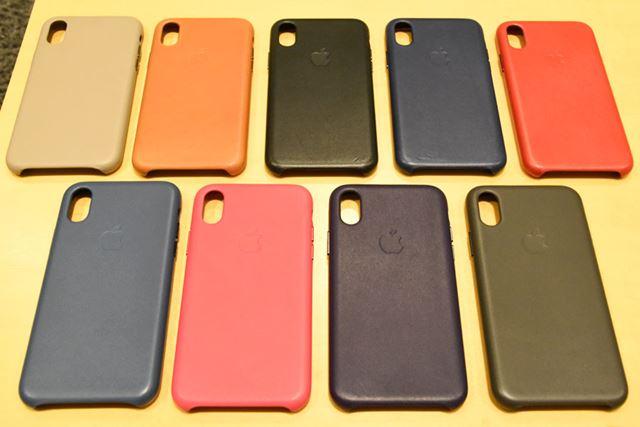 「iPhone Xレザーケース」は、全9色で展開
