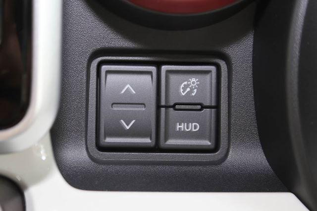 「ヘッドアップディスプレイ」の操作スイッチ。表示内容の変更や表示位置の調整、明るさの調整などが行える