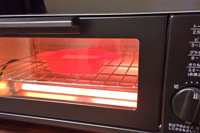 余熱したトースターで3〜4分ほど焼きます