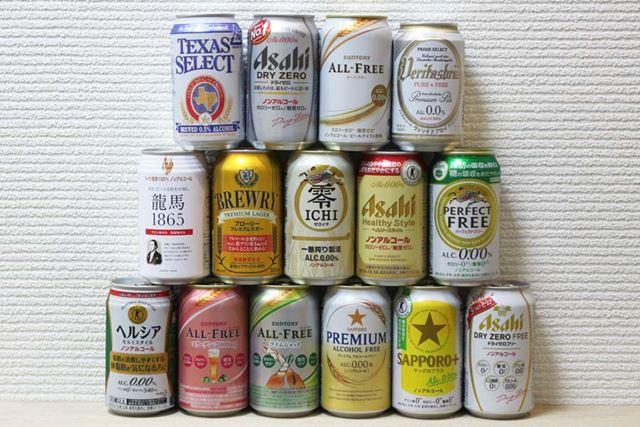 飲み比べるのは、2017年12月19日時点で価格.comに登録されているノンアルコール飲料(ビールテイスト)15種