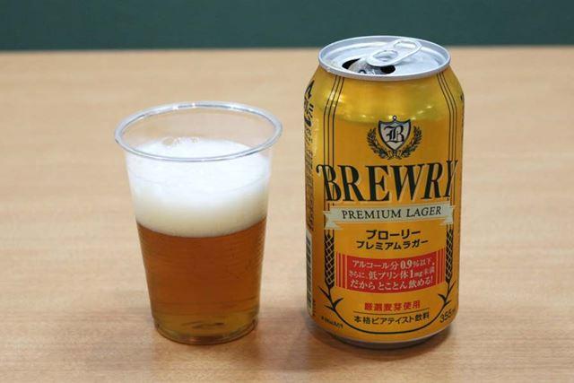 アルコール度数:0.9%/カロリー:15kcal(100ml当たり)/糖質:2.5g(100ml当たり)