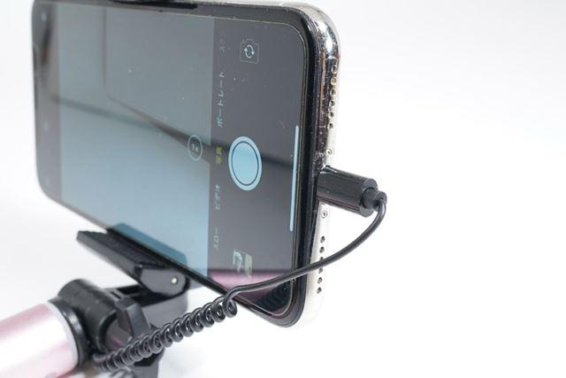 Lightningコネクタなので、もちろんiPhone Xにも接続できます