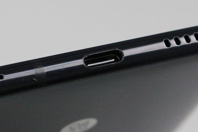 本体下部のUSB Type-Cポートは、QuickCharge3.0に加えて、USB PDにも対応している