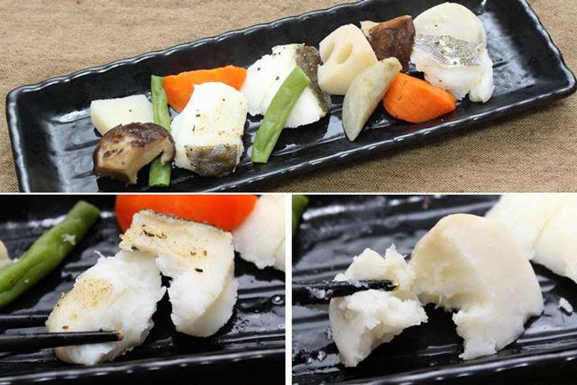 タラと野菜の蒸し物が完成! タラにも野菜にも、ホクホクに火が通っています