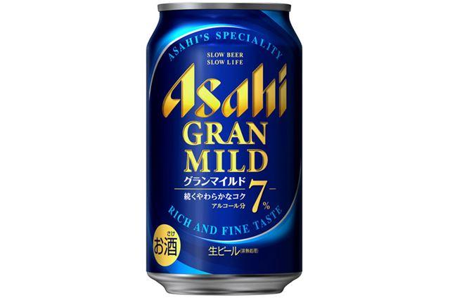 「アサヒ グランマイルド」は、アルコール分7%の高アルコール缶ビール