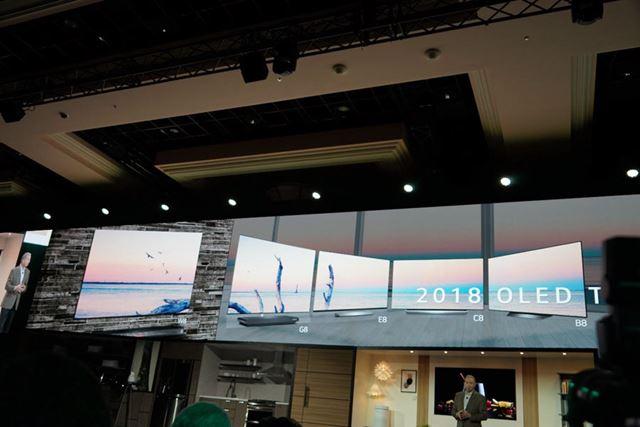 LGエレクトロニクスの有機ELテレビ2018年モデル「LG AI OLED TV ThinQ」