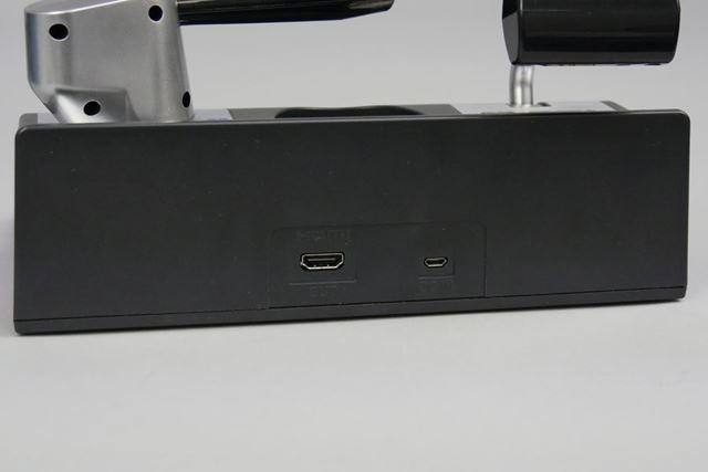 背面にはHDMIポートと、給電用のmicroUSBポートを搭載