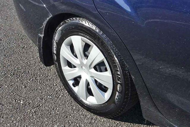 乾燥したら完了。なかなかのテカリ具合ですが、タイヤが新品に戻ったような雰囲気があり気に入りました