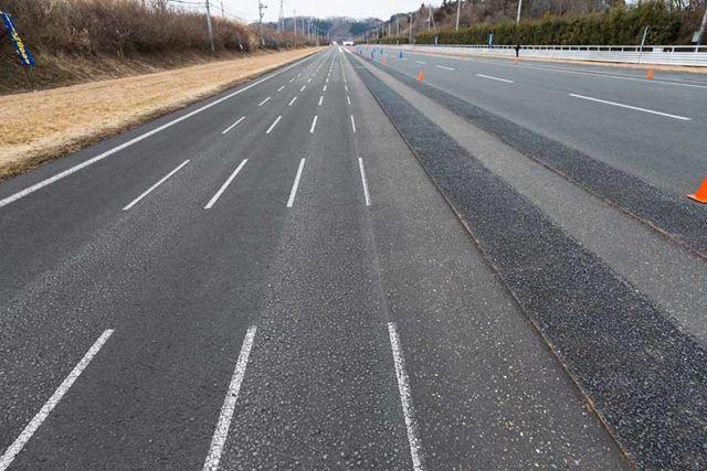 グッドイヤー「エフィシェント」シリーズ新タイヤの試乗会が開催された、日本自動車研究所(JARI)