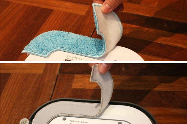 両パッドともベルクロで装着する使用なので、取り外して洗うことも可能