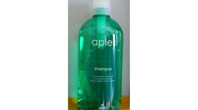 アップルの香りがするシャンプーをもらいました